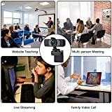 Castries 1080P Webcam with Privacy Cover, HD Webcam with Microphone with Noise Reduction, Wide Angel Laptop and Desktop USB Web Camera for Video Calling, Video Conferencing, Online Teaching or Gaming