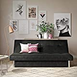 DHP Sola Convertible Sofa Futon with Space Saving Storage Compartments