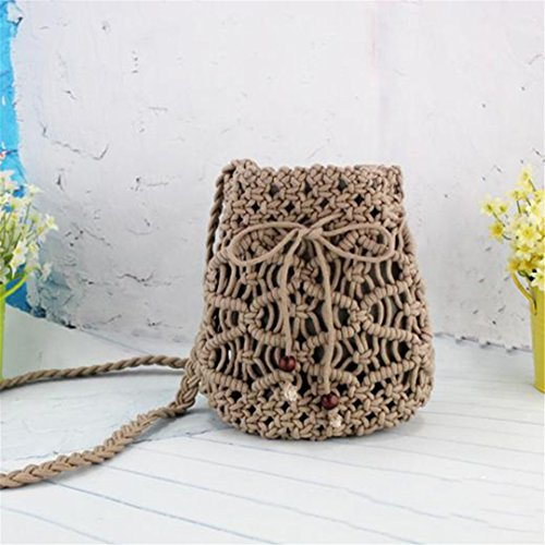 Tejido We3137 Black Grey Female Casual Mini Straw Messenger Cordón Holiday Bag Handbag Lady Bag Beach Summer Mujeres aqxOnZgwg