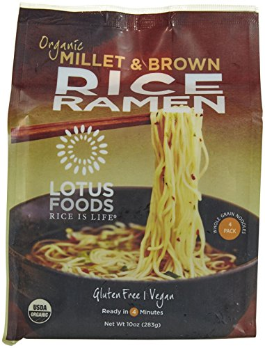 - Lotus Foods Organic Ramen Noodles-Millet & Brown-10 oz