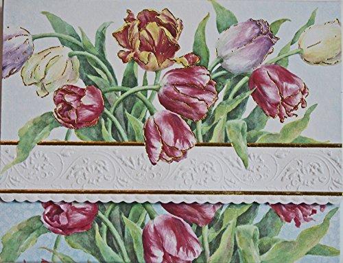 Carol Wilson Fine Arts Tulips Blank 10 Card Set Portfolio