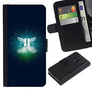 Ihec-Tech / Flip PU Cuero Cover Case para Samsung Galaxy S3 MINI NOT REGULAR! I8190 I8190N - Gemini Twins Zodiac Sign