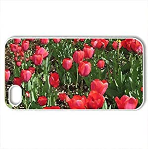 Colorful Tulips in Ottawa - Case Cover for iPhone 4 and 4s (Flowers Series, Watercolor style, White) by lolosakes