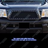 2006 toyota tacoma grill - 2005-2010 Toyota Tacoma Black Rivet Stainless Steel Mesh Grille Grill Insert