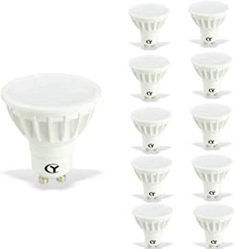CY LED 6W MR16 GU10 LED Bulbs, 50W Halogen Bulbs Equivalent, 500lm,Warm White 3000K, 120°Beam Angle, Recessed Lighting, Track Lighting, LED Light Bulbs, Pack of 10 Units