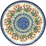 """Polish Pottery Plate - 10"""" Dinner - Crimson Bells"""