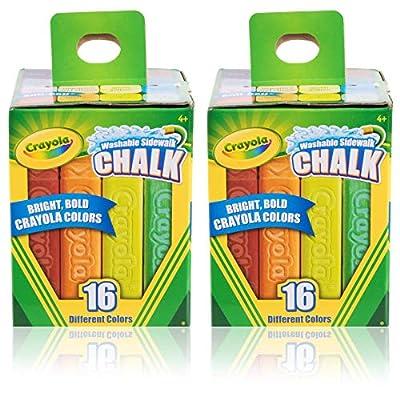 Crayola Sidewalk Chalk 16 CT. Pack of 2: Toys & Games