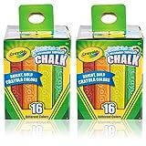 Crayola Sidewalk Chalk 16 CT. Pack of 2