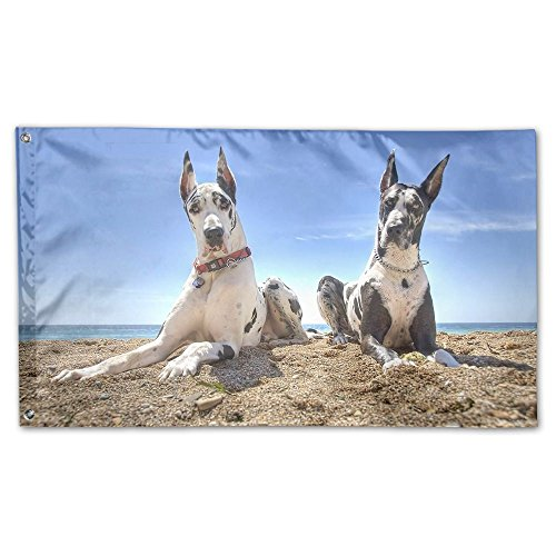 Colby Keats Dogs Great Dane Garden Lawn Flags Indoor Outdoor Decoration Home Banner Polyester Sports Fan Flags 3 X 5 Foot]()