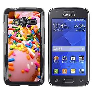 Be Good Phone Accessory // Dura Cáscara cubierta Protectora Caso Carcasa Funda de Protección para Samsung Galaxy Ace 4 G313 SM-G313F // sprinkles glazed doughnut pink sweet