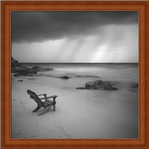Storm by Moises Levy Beach Black White Photography Wall Art Print Picture Framed