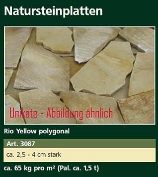 Ca Tonnen Rio Yellow Polygonal Steinplatten Ca Kgm² Ca - Steinplatten 2 cm stark