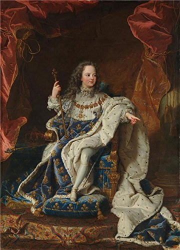 Perfect Effect Canvas ,the High Resolution Art Decorative Canvas Prints Of Oil Painting 'Hyacinthe Rigaud-Louis XV (1710-1774) At The Age Of Five In The Costume Of The Scare,1716-1724', 24x33 Inch / 61x85 Cm Is Best For Basement Decoration And Home Decor And Gifts