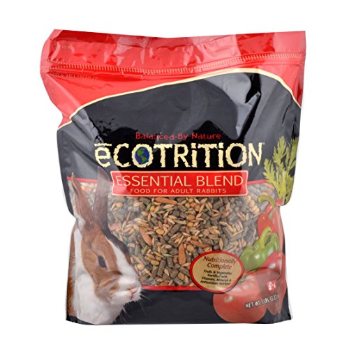 - Ecotrition Essential Blend Food For Adult Rabbits, 5 Pounds, Resealable Bag
