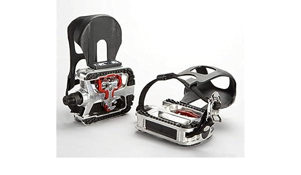 Pedal mixto, para uso con calas y zapatilla normal: Amazon.es: Deportes y aire libre