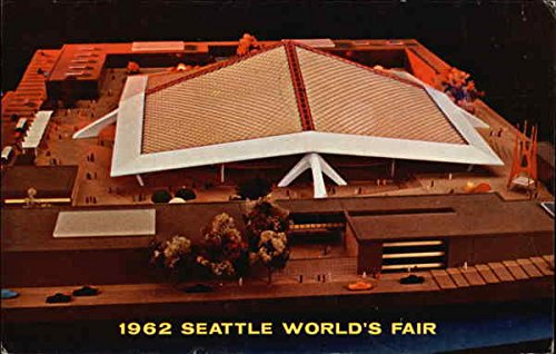 Aerial View of Coliseum 21 1962 Seattle World's Fair Original Vintage Postcard