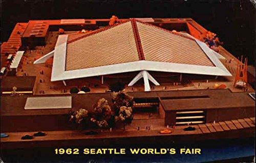 - Aerial View of Coliseum 21 1962 Seattle World's Fair Original Vintage Postcard