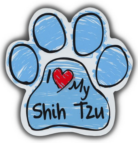 - Scribble Paw Dog Magnets: I LOVE MY SHIH TZU   Cars, Trucks, Refrigerators