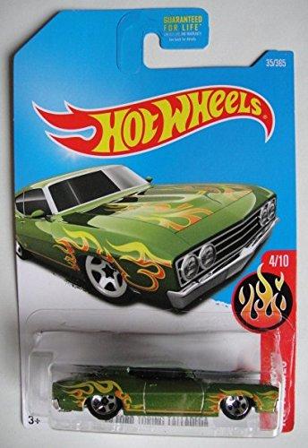 Amazon Com Hot Wheels  Hw Flames  Ford Torino Talladega   Green Toys Games