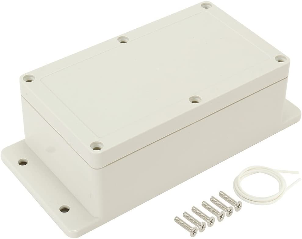 sourcingmap 6.2x3.54x2.3 ABS Junction Box Universal Electric Project Enclosure w Fixed Ear 158mmx90mmx60mm