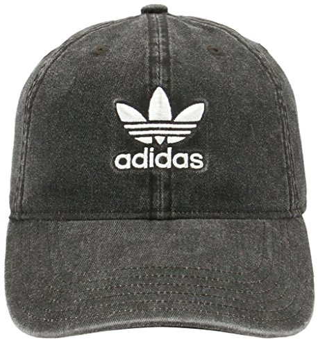 nals Relaxed Fit Strapback Cap, Black Denim/White, One Size ()