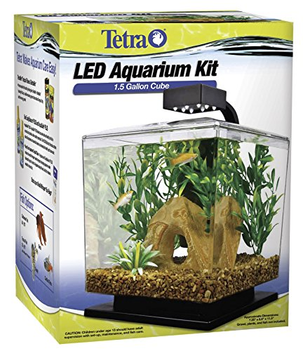 Tetra 29137 Water Wonder Aquarium Kit, Black, 1.5 Gallons - Hermit Crab Bright Bowl