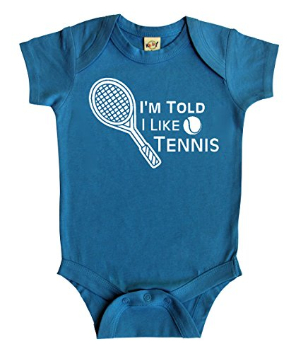 I'm Told I Like Tennis Silhouette Baby Bodysuit (6-12 months, -