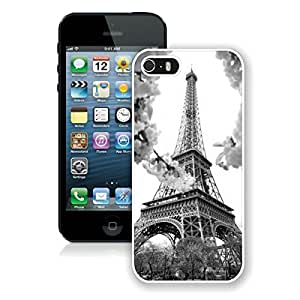 Nice Top Apple Iphone 5s Case Eiffel Tower Durable Soft Silicone White Phone Cover for Iphone 5 Accessories