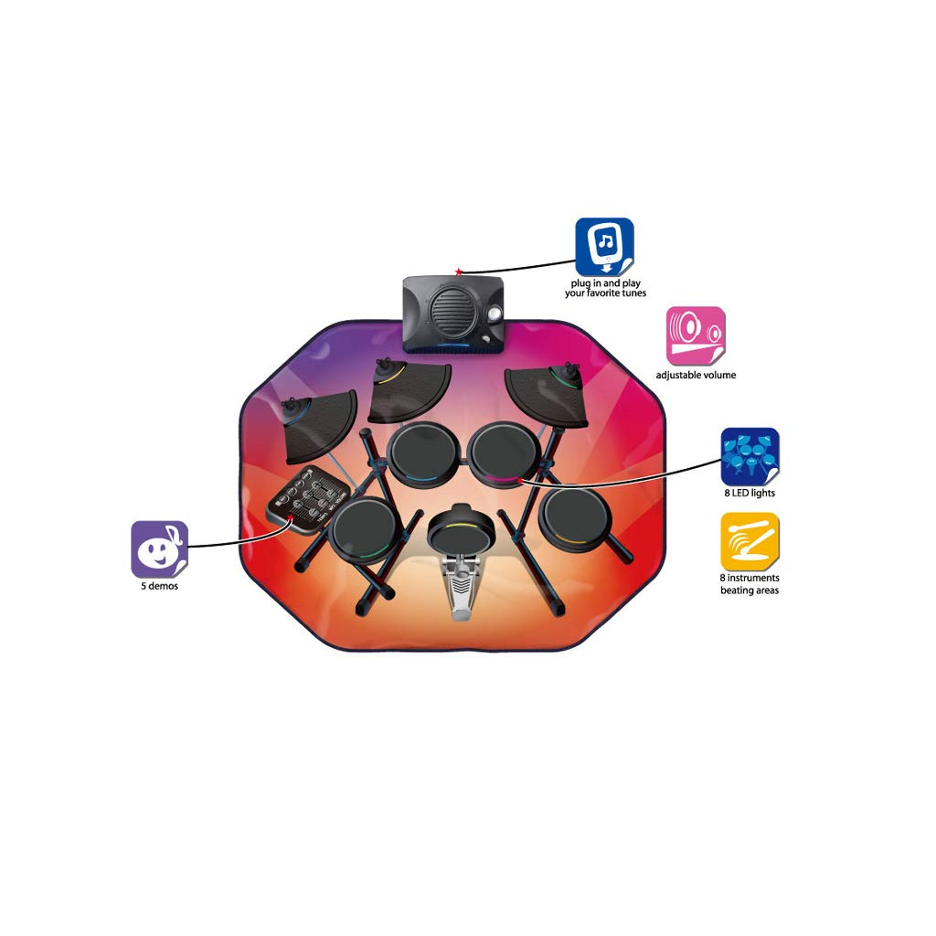 LINGLING-Trommel Simulation Videospiel Decke Trommel Musik Musik Trommel Decke Kinder Mädchen Jungen Geburtstagsgeschenk Spielzeug (größe   M) 21f6e1