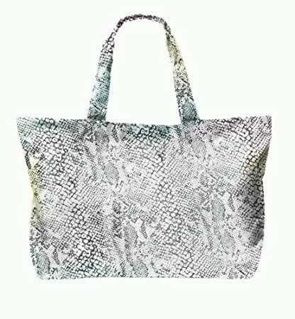 3ded65e59f0c29 Amazon.com : Victoria's Secret Pink Extra Large Tote Bag Snake Skin ...