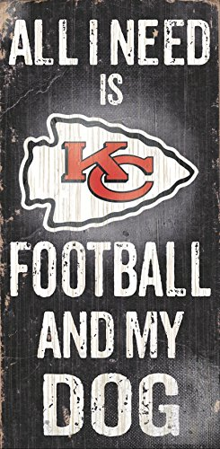 Kansas City Chiefs Sign - Fan Creations Sign Kansas City Chiefs Football and My Dog, Multicolored
