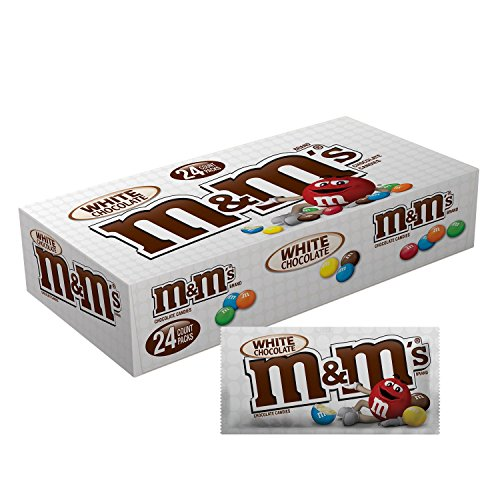M&M'S White Chocolate Singles Size Candy 1.5-Ounce Pouch 24-Count Box ()
