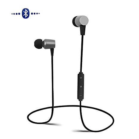 MOREFINE Auriculares Bluetooth Inalámbrico In-Ear Deporte Auriculares Cancelación de Ruido Stereo Auriculares Recargables A prueba ...