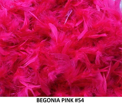 Cozy Glamour Over 35 Different Solid Color Boas 6 Feet Long 50 Gram Weight (Begonia Pink #54) -