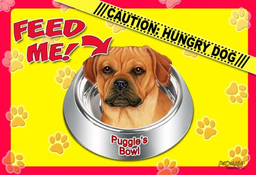 Puggle 17'' x 11-1/2'' 2-Sided Placemat / Dishmat