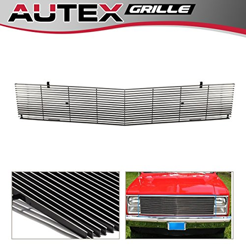 AUTEX C85202A Polished Main Upper Phantom Billet Grille Replacement Fits For 1981-1988 GMC Suburban/Jimmy, 1981-1987 GMC C/K Pickup, 1981-1988 Chevy Blazer/Suburban, 1981-1988 GMC Jimmy/Suburban