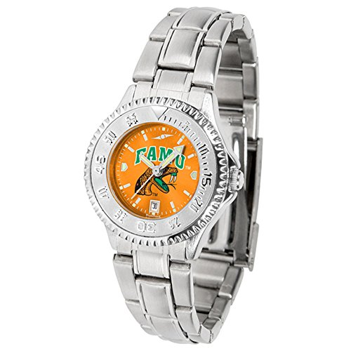 (New Linkswalker Florida A&M Rattlers Ladies' Competitor Steel Anochrome Watch )
