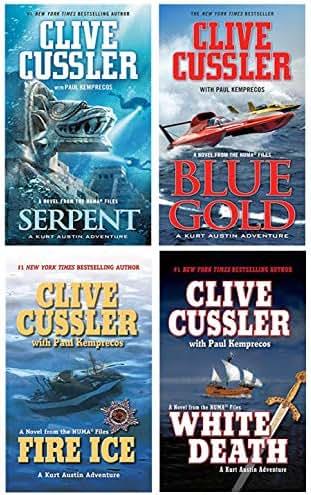 Numa Files Kurt Austin Series by Clive Cussler, Part 1: (Serpent, Blue Gold, Fire Ice & White Death)