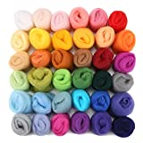 Image of Jeteven 36 Colors Spinning Sewing Trimming Merino Wool Fibre Roving For Needle Felting