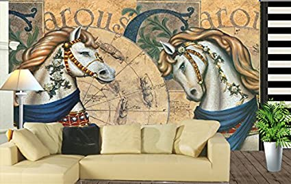 Sproud Custom 3D Horse Wallpaper European Style Classical Horse For The  Living Room Tv Background Wall