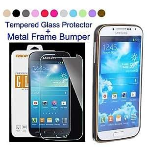 HJZ Samsung S4 I9500 compatible Solid Color/Special Design Metal Bumper , Brown