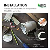 "Sunco Lighting 6 Pack of 4"" inch Remodel LED Can"