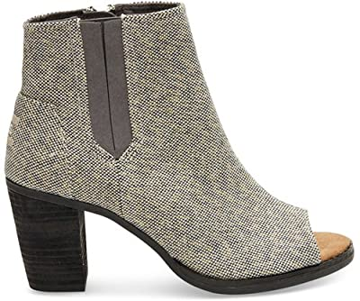 TOMS Women's Majorca Peep Toe Casual Shoe (8.5 B(M) US, Grey Metallic)