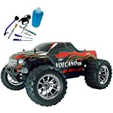 Redcat Racing Gold Bundle - Nitro 2.4GHz Volcano S30 Truck, 1/10 Scale, Red Flame - PLUS - Redcat Racing 80142A Nitro R/C Starter Kit