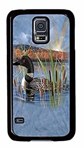 Diy Fashion Case for Samsung Galaxy S5,Black Plastic Case Shell for Samsung Galaxy S5 i9600 with Black Swan