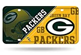 "Rico Industries NFL Green Bay Packers Metal License Plate Tag, 6"" x 12"", Multicolor"