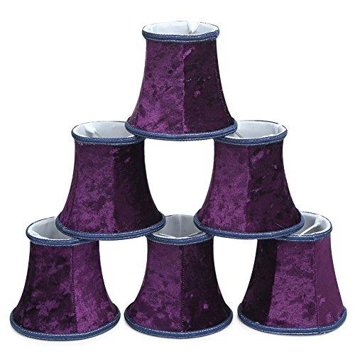 Fuloon Set of 6 PCS Lint Fabrics Cloth-made Lamp Shade Lampshade (Purple)