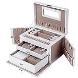 Songmics Elegant Jewellery Box Jewelery Storage Case Jewellery Organizer JBC121W