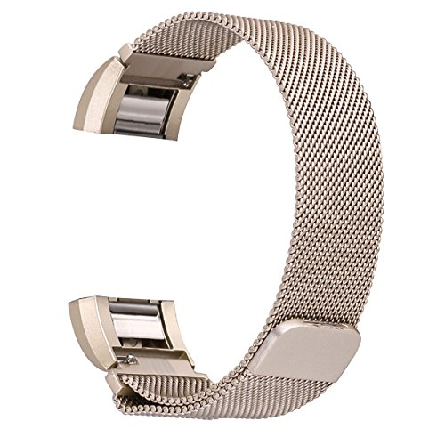 For Fitbit Charge 2 Bands, bayite Stainless Steel Milanese