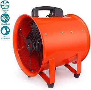 8 Inches / 200mm Ventilador Industrial Portátil Diámetro Axial ...